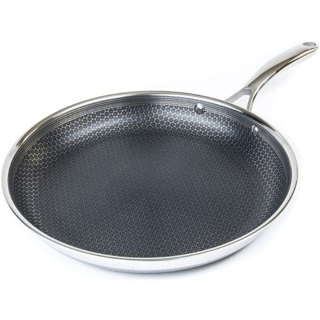 HexClad 12 Inch Hybrid Stainless Steel Frying Pan