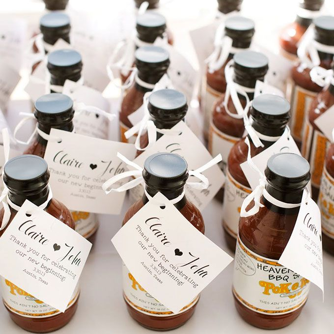 Bottles of barbecue sauce
