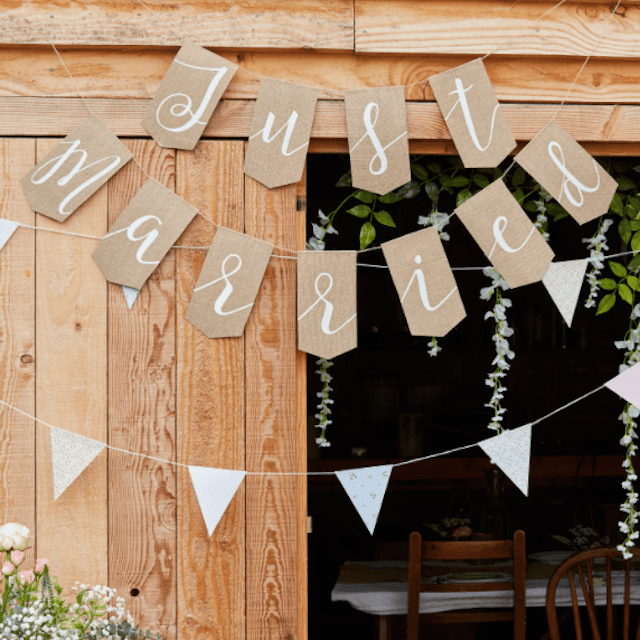 Just Married Party Decoration