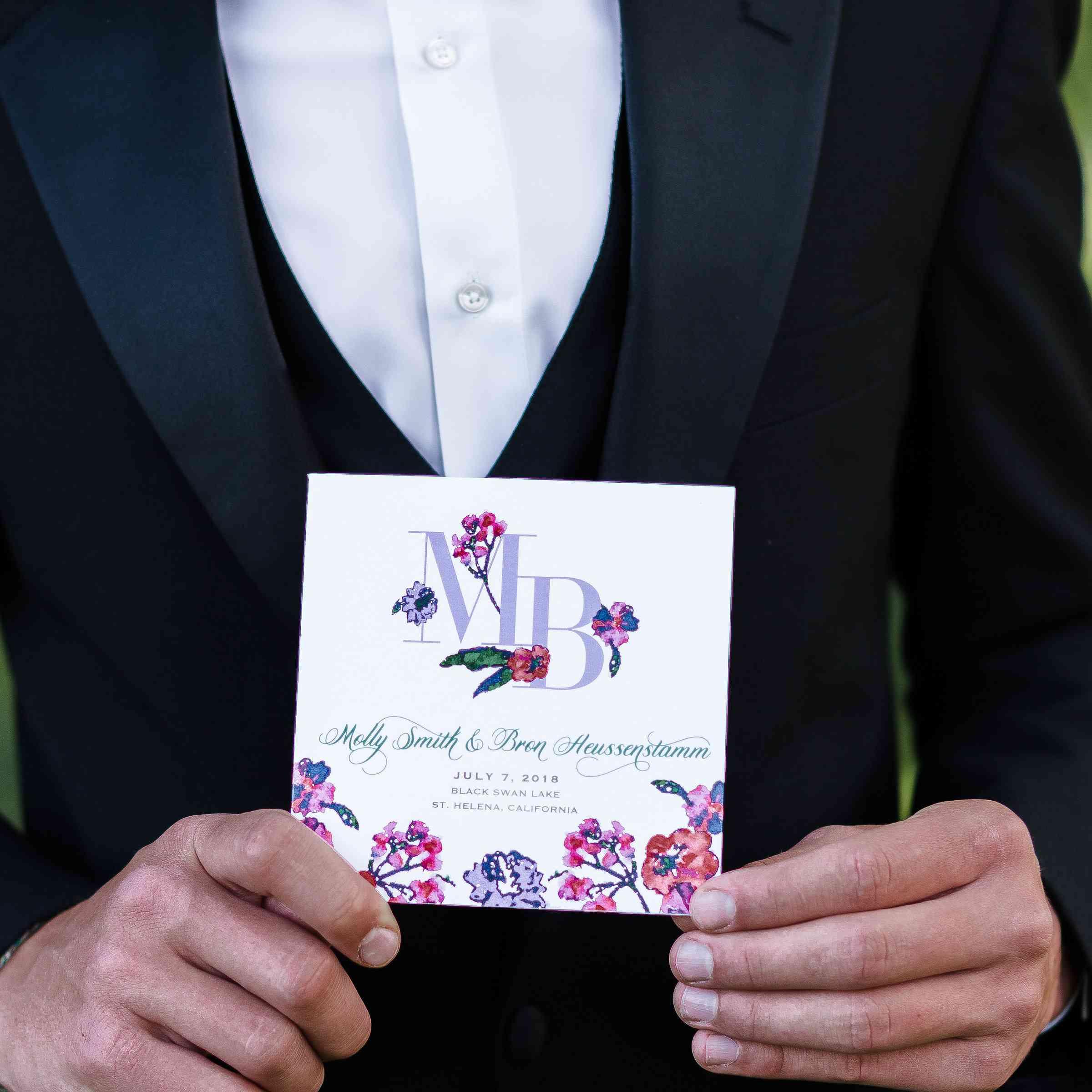 pink and purple wedding invitations