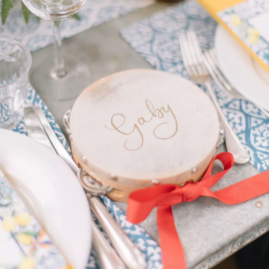 Tambourine guest favors