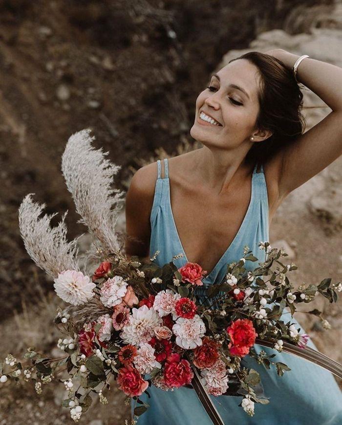 carnation wedding bouquet