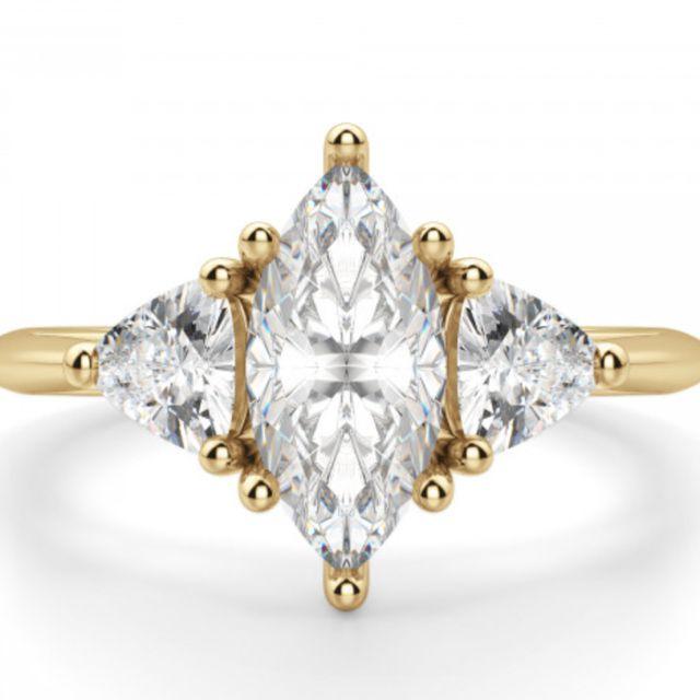 Diamond Nexus Timeless Marquise Cut Engagement Ring
