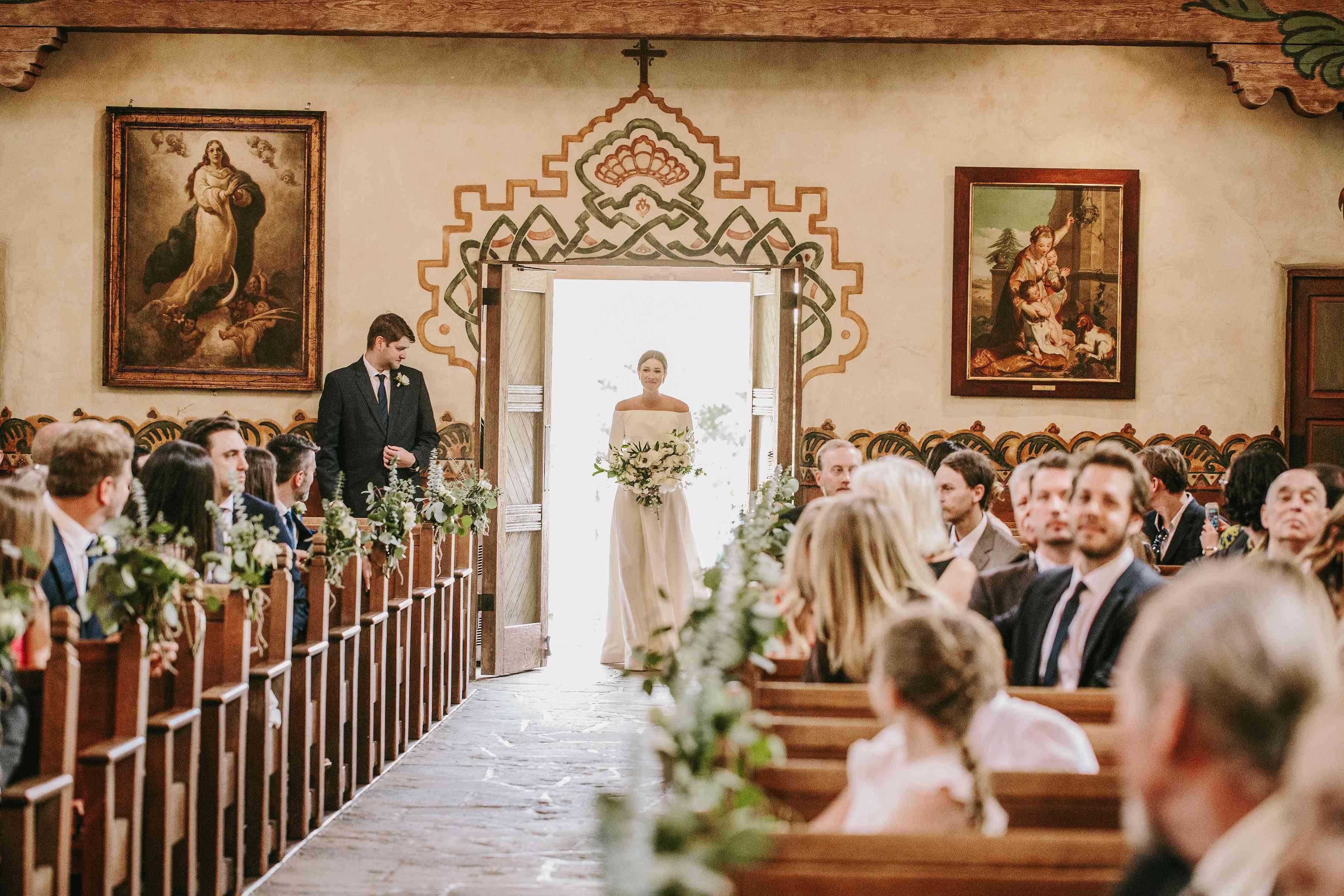 <p>bride entering church</p><br><br>
