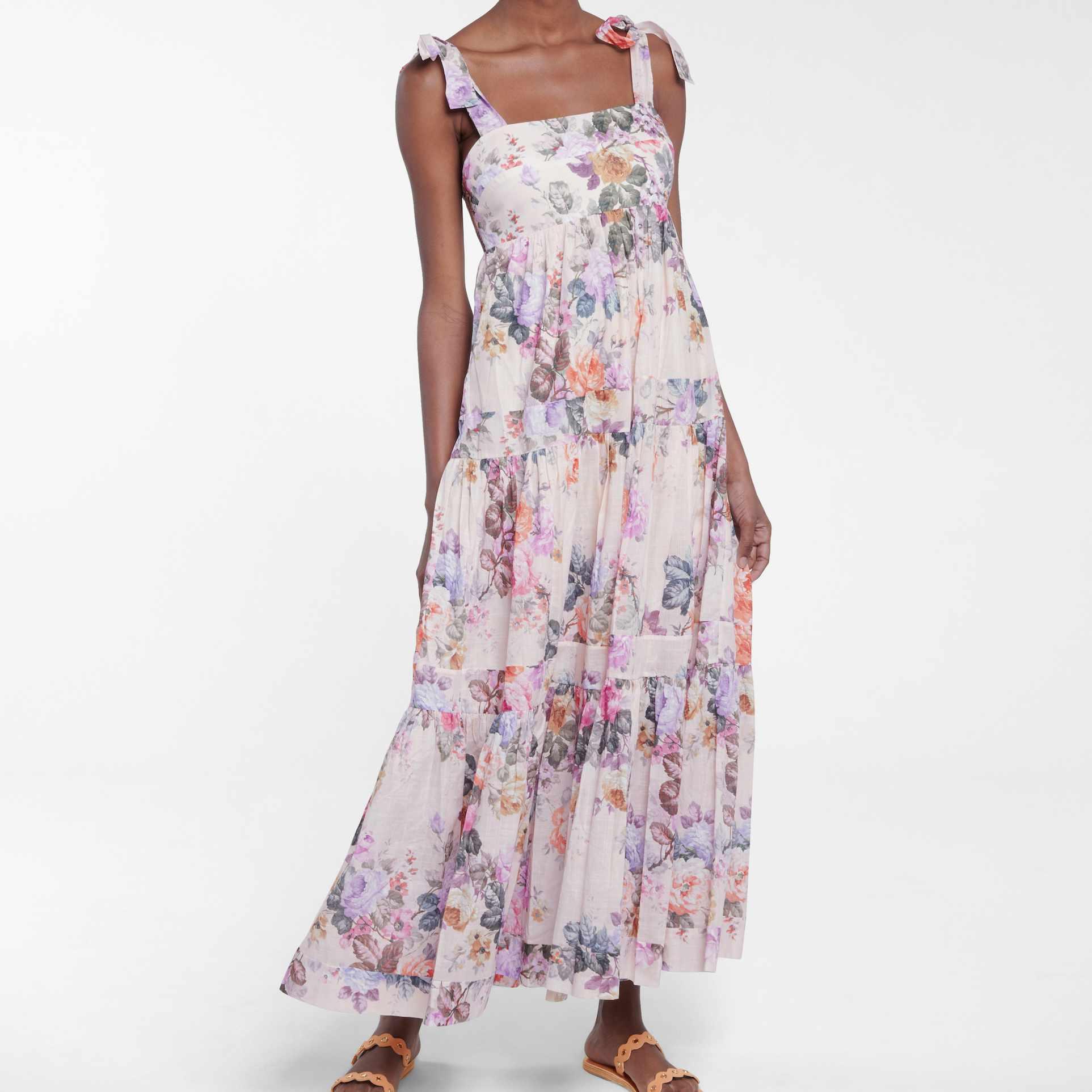 Zimmermann Brighton Floral Cotton Midi Dress, $700, on sale $650
