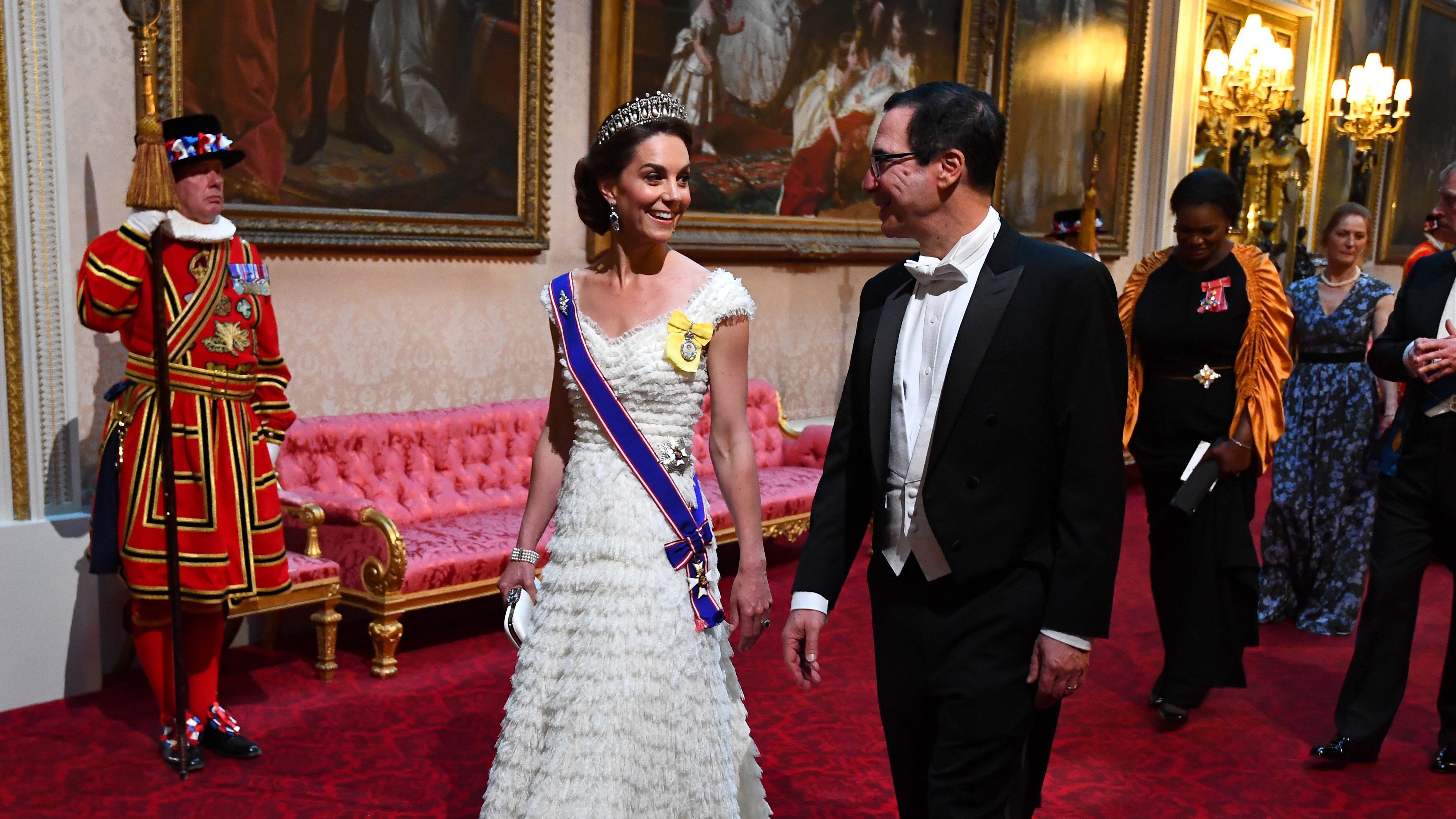 Kate Middleton Stuns In Princess Diana S Tiara And A White Bridal