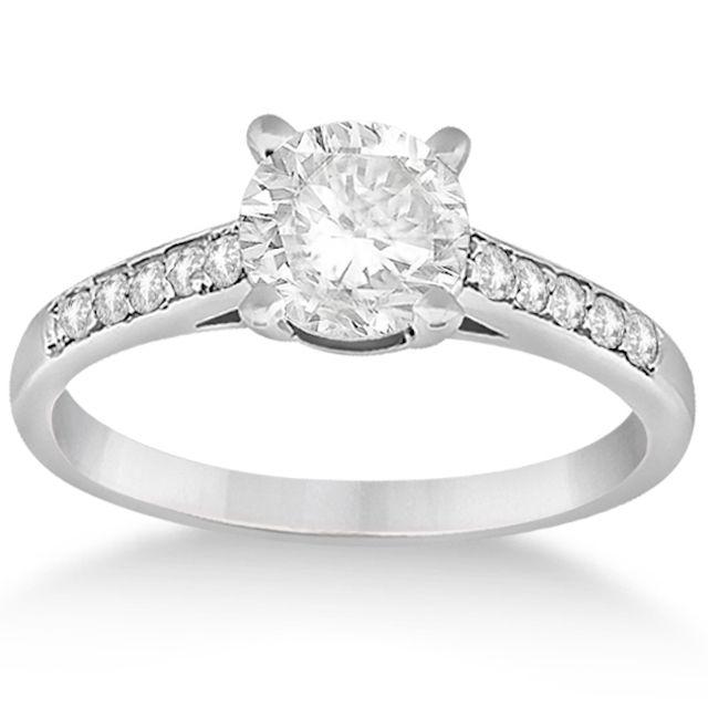 Allurez Cathedral Pavé Diamond Engagement Ring Setting