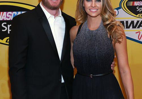 Dale Earnhardt Jr with wife