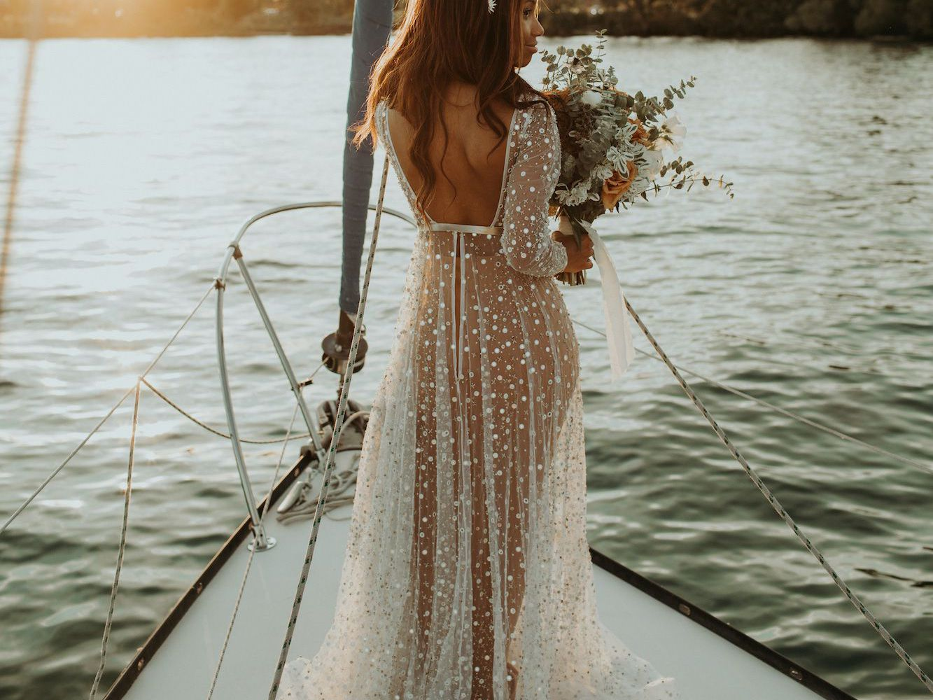 20 Stunning Silver Wedding Dresses for Bold Brides