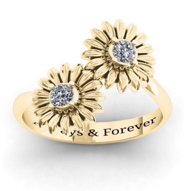 Jewlr Sunflowers Ring