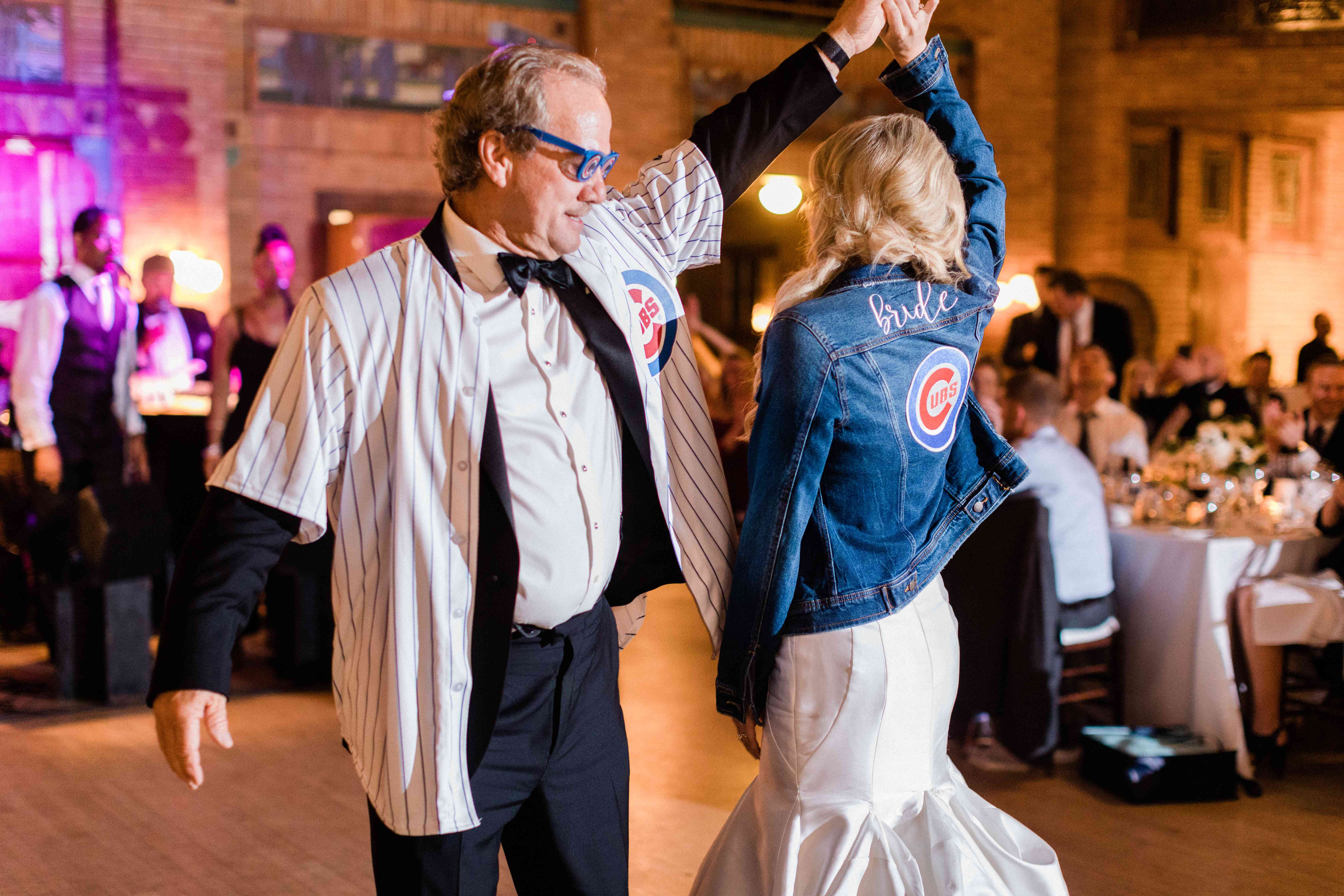 <p>Bride and father of bride dancing</p><br><br>