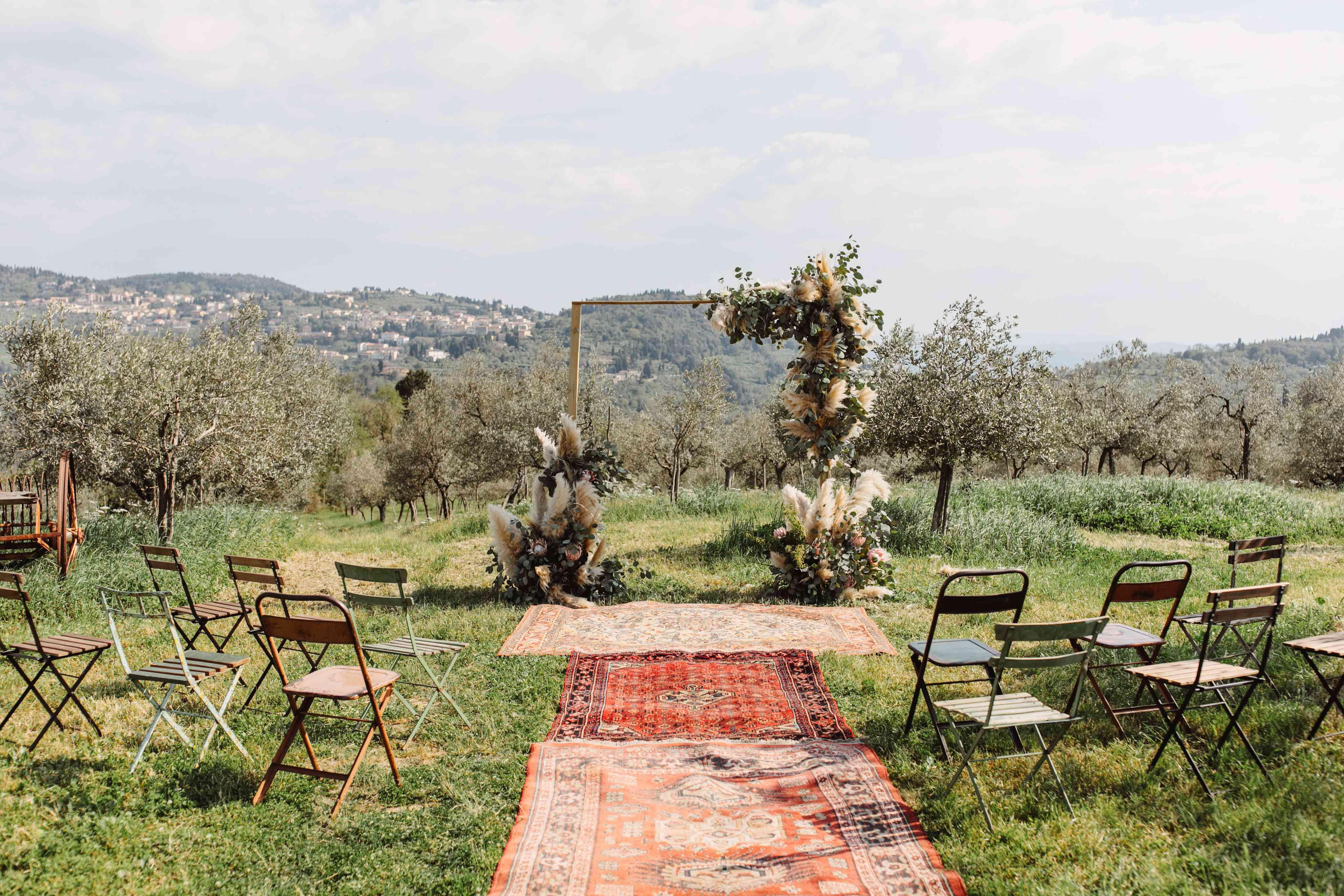Rug-lined altar