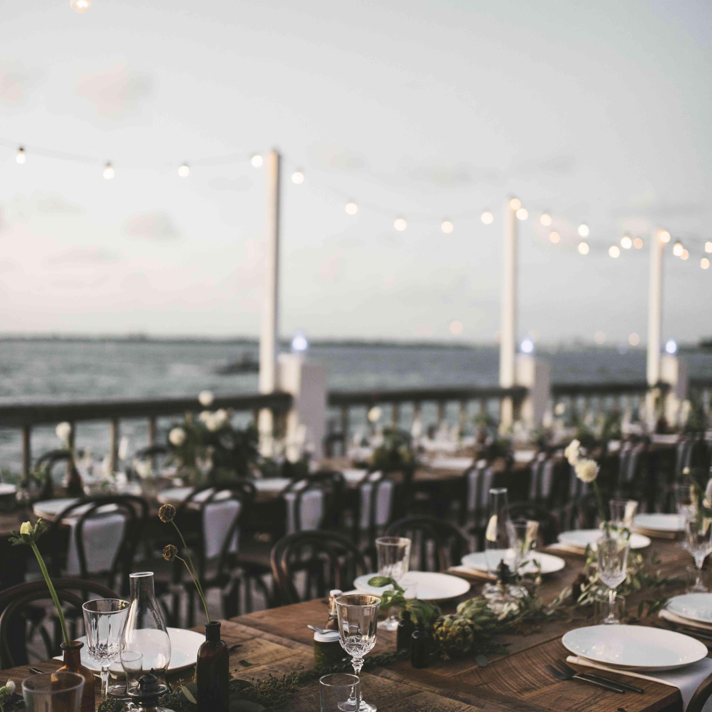 seaside farm table reception