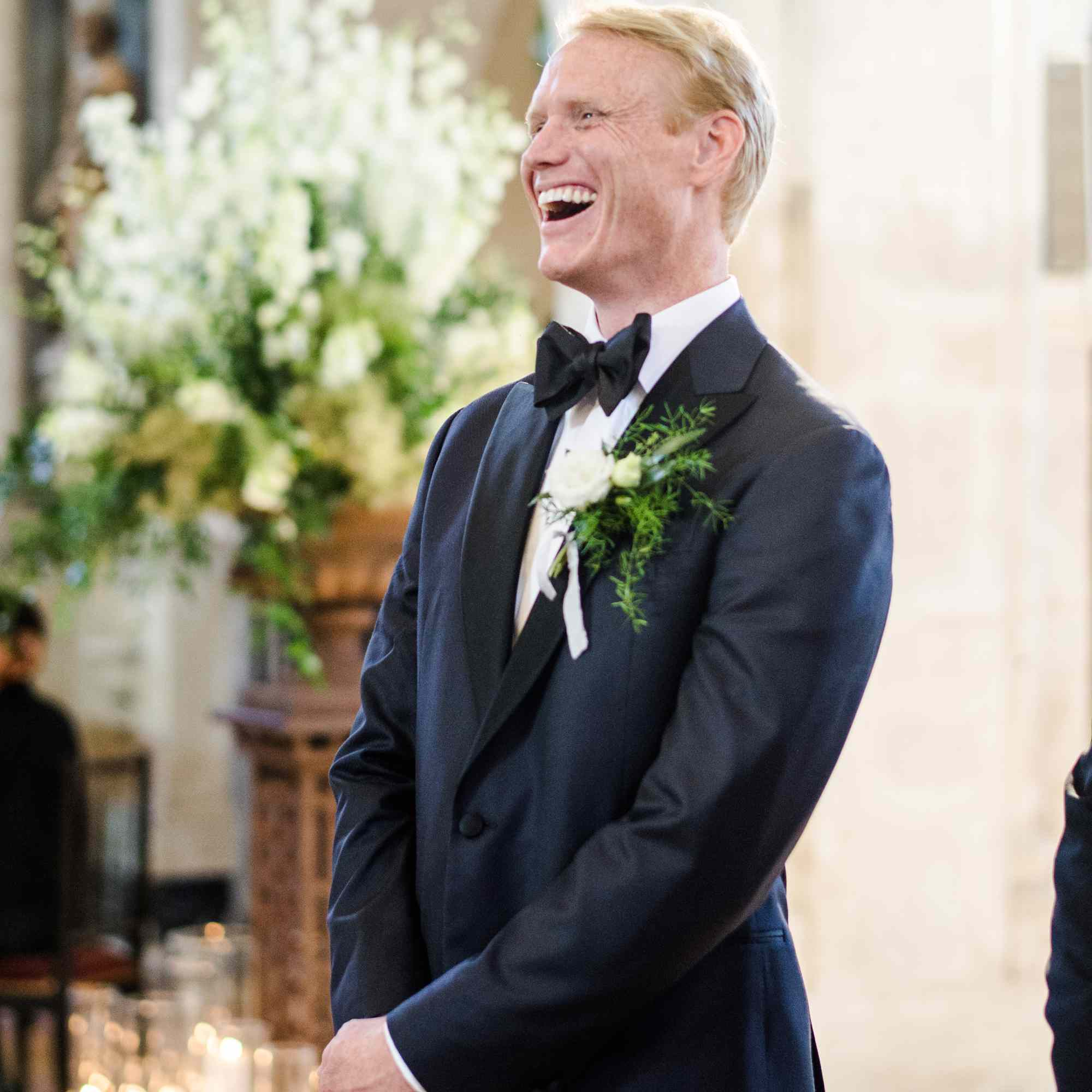 <p>Groom at altar</p><br><br>