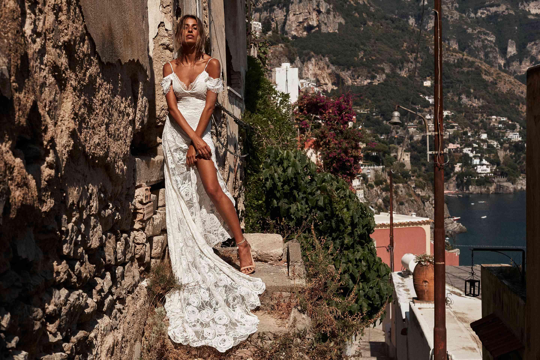 Bonita off-the-shoulder lace wedding dress