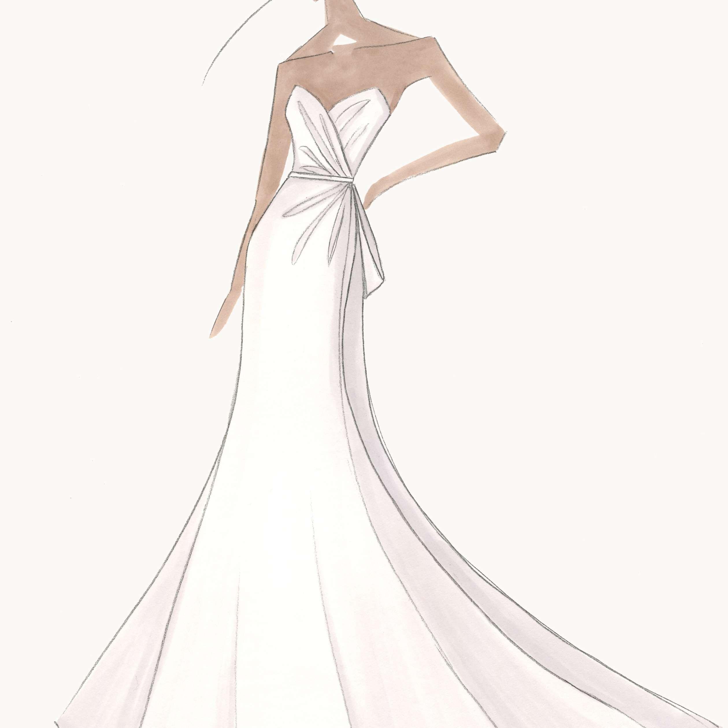 Amsale Bridal Fashion Week Fall 2020 Sketch