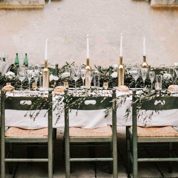 wine bottle centerpieces
