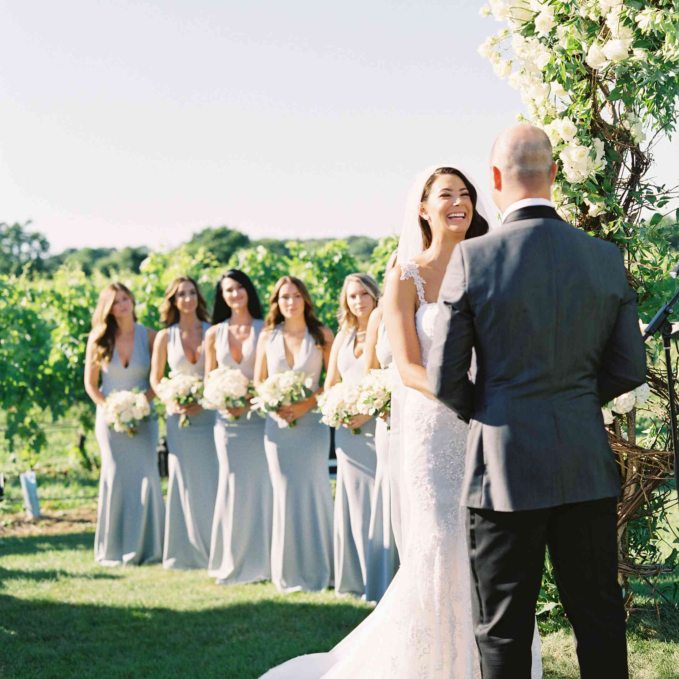 bride and groom vow exchange