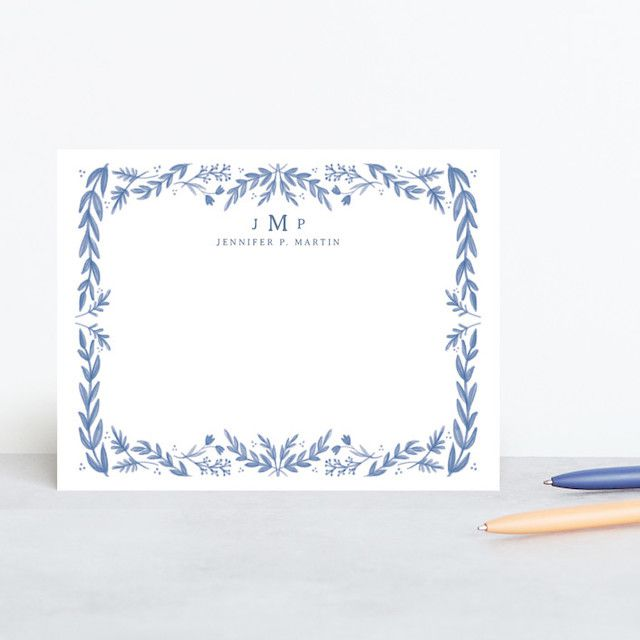 Framed in Floral Personalized Stationery