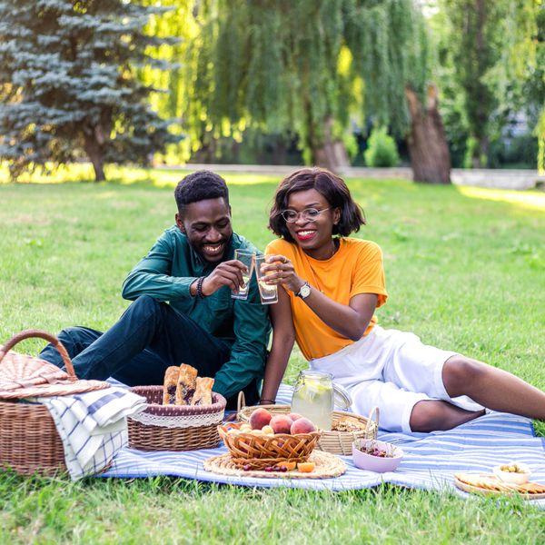 couple having a picnic