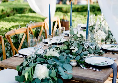 Canopy-Draped Head Table